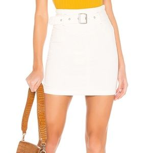 Free People Livin' It Up Pencil Skirt White